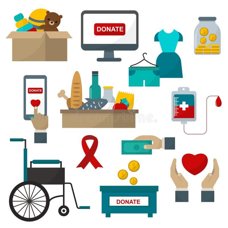 Doe a ilustração dos símbolos da ajuda ilustração stock
