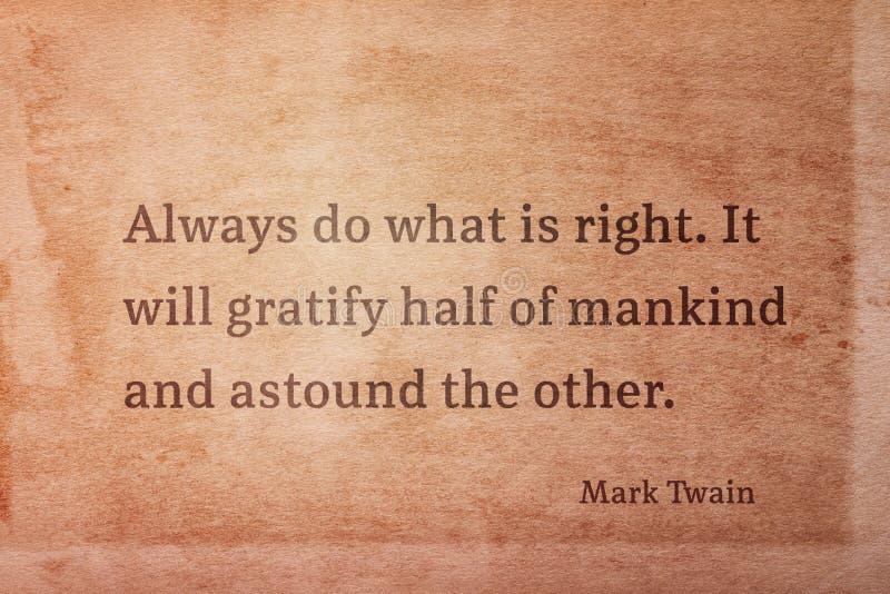 Doe juiste Twain stock foto