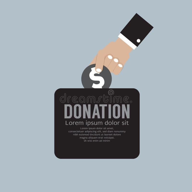 Doe o dinheiro ao conceito da caridade ilustração royalty free