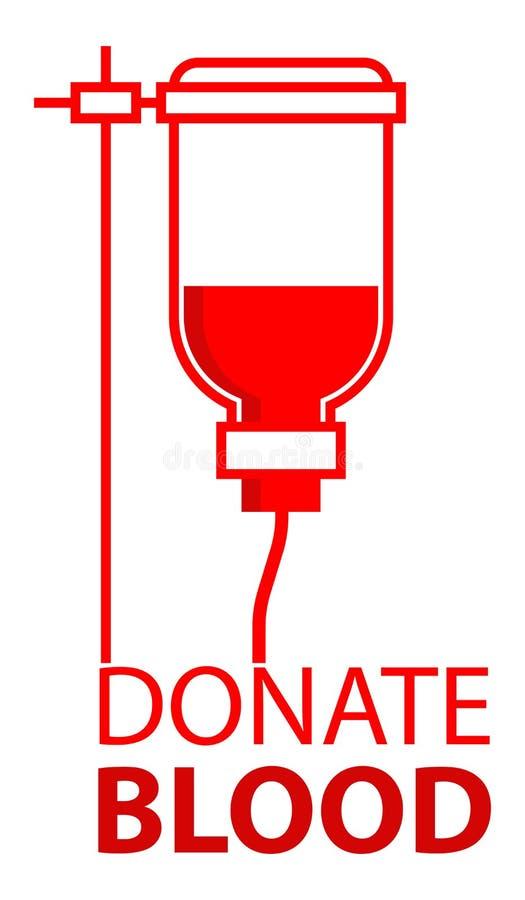 Doe o sangue - garrafa do sangue ilustração stock