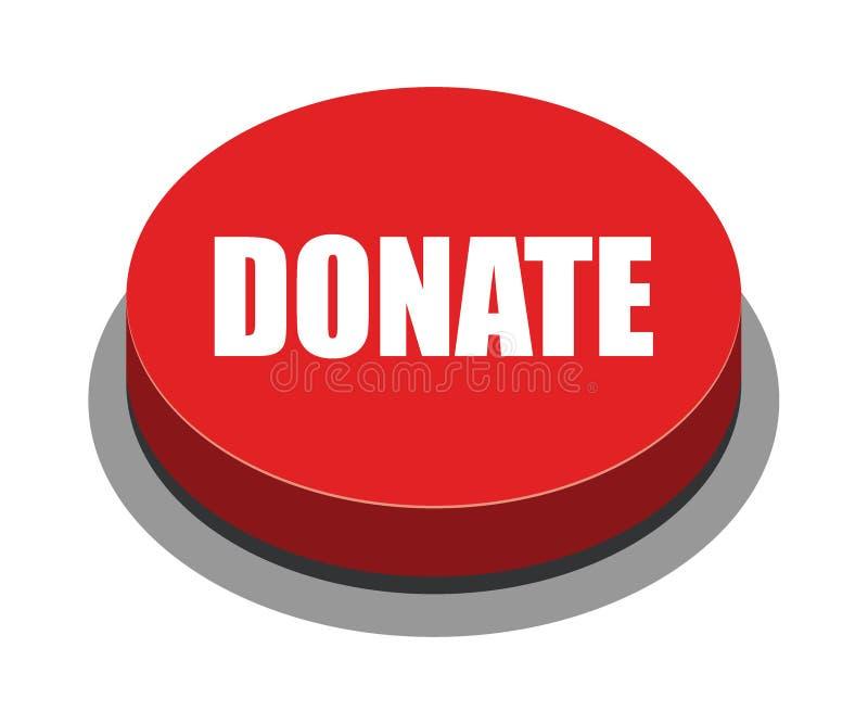 Doe o vermelho do botão ilustração stock