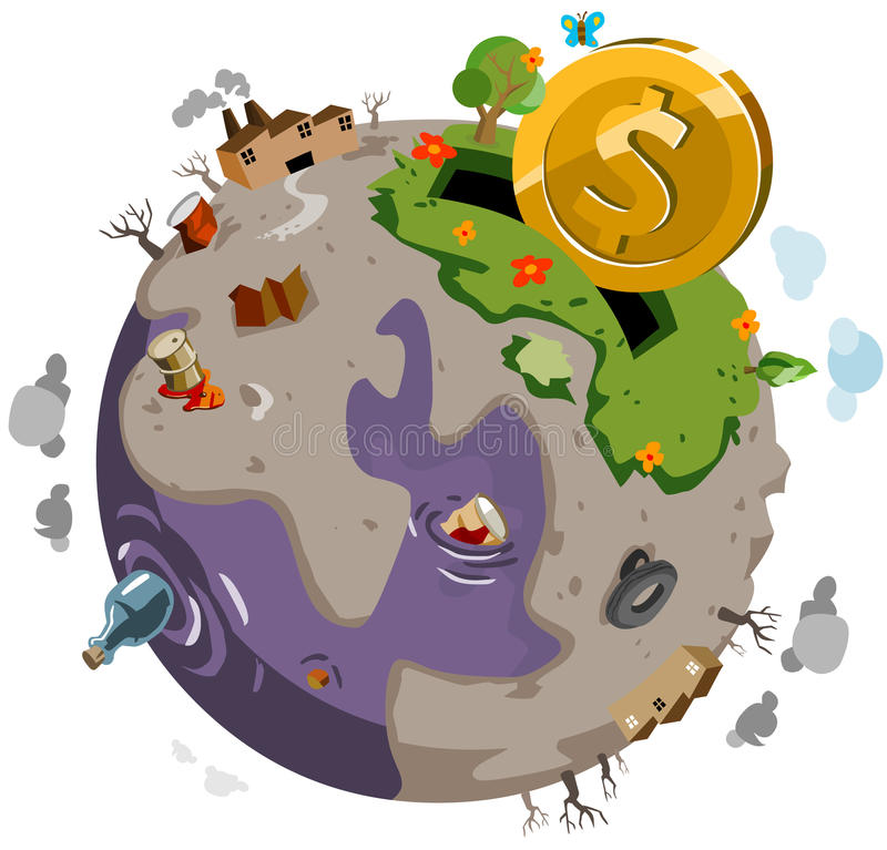 Doe para curar o mundo doente ilustração royalty free