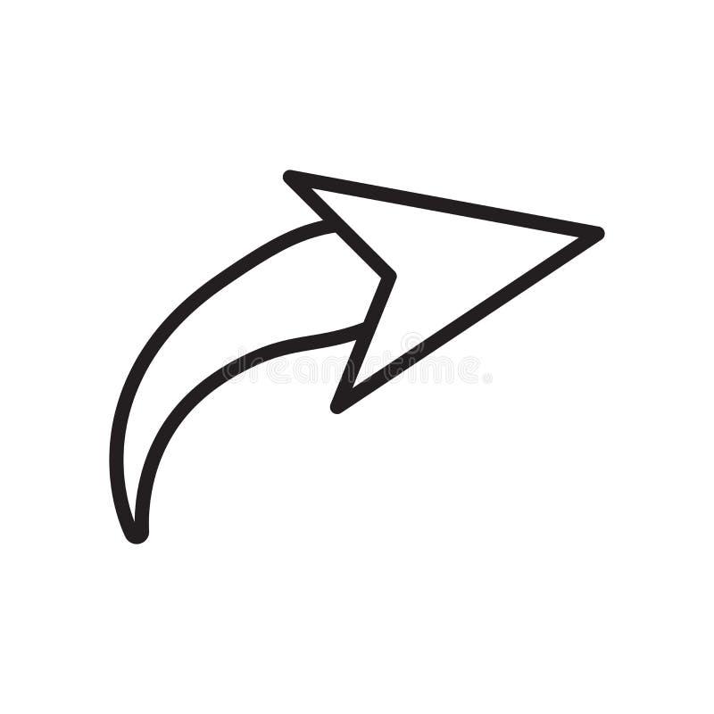 Doe pictogram vectordieteken en symbool over op witte achtergrond, R wordt geïsoleerd royalty-vrije illustratie