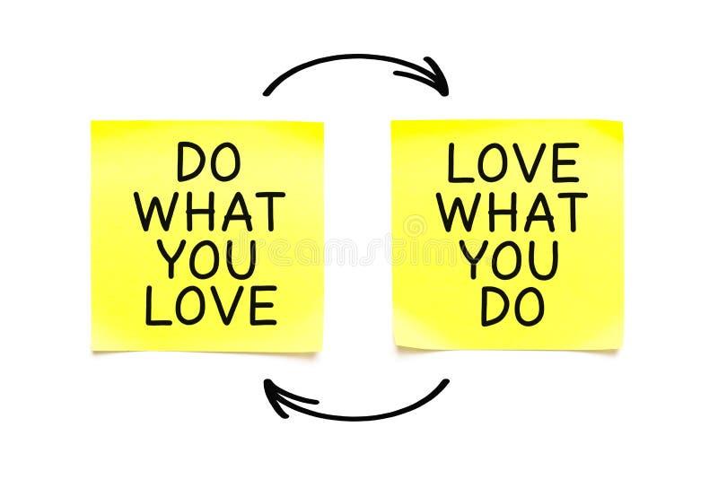 Doe Wat u van Liefde houdt Wat u citeert vector illustratie