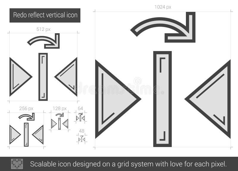Doe wijzen op verticaal lijnpictogram over stock illustratie