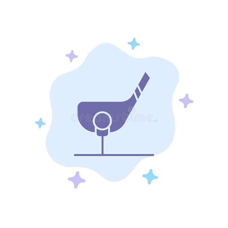 Doel, Bal, Club, Golf, Geschoten Blauw Pictogram op Abstracte Wolkenachtergrond stock illustratie