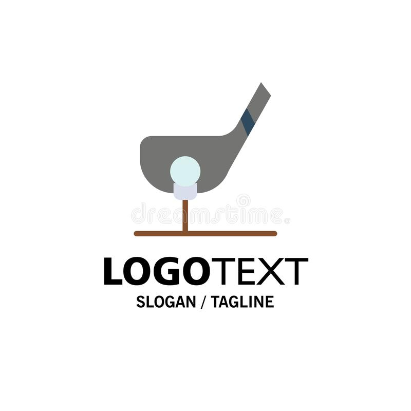Doel, Bal, Club, Golf, Geschotene Zaken Logo Template vlakke kleur vector illustratie