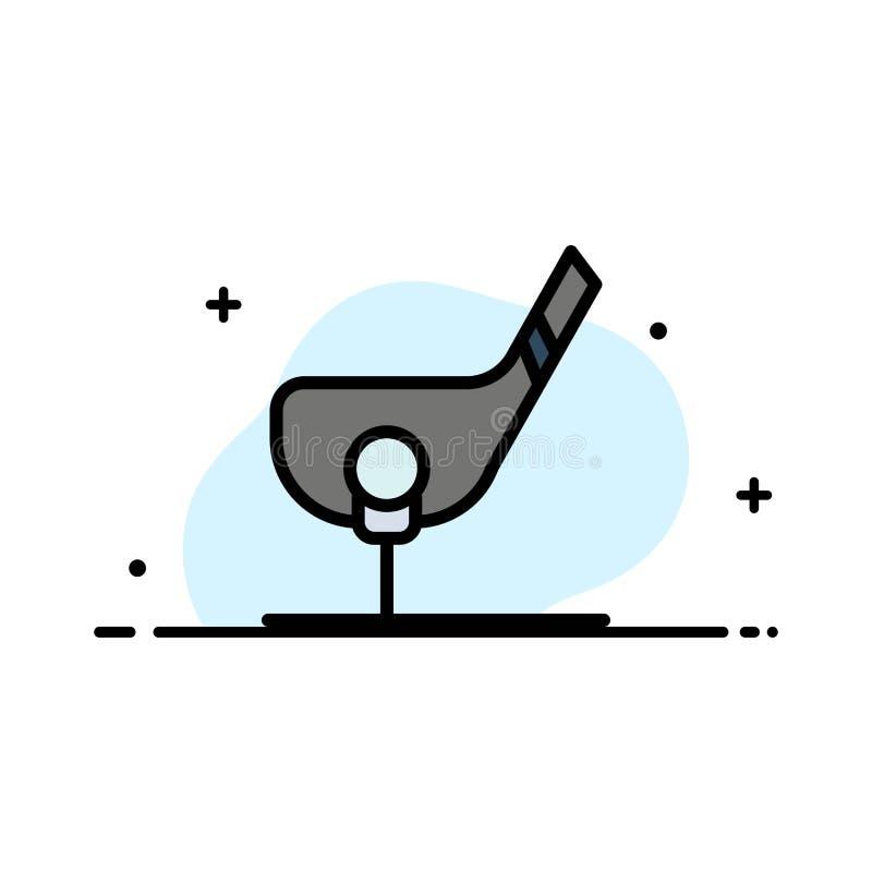 Doel, Bal, Club, Golf, het Geschotene Malplaatje van de Bedrijfs Vlakke Lijn Gevulde Pictogram Vectorbanner royalty-vrije illustratie