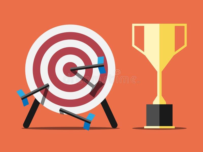 Doel en trofee stock illustratie