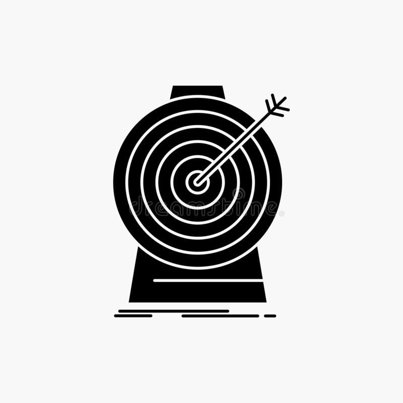 Doel, nadruk die, doel, doel, Glyph-Pictogram richten Vector ge?soleerde illustratie vector illustratie