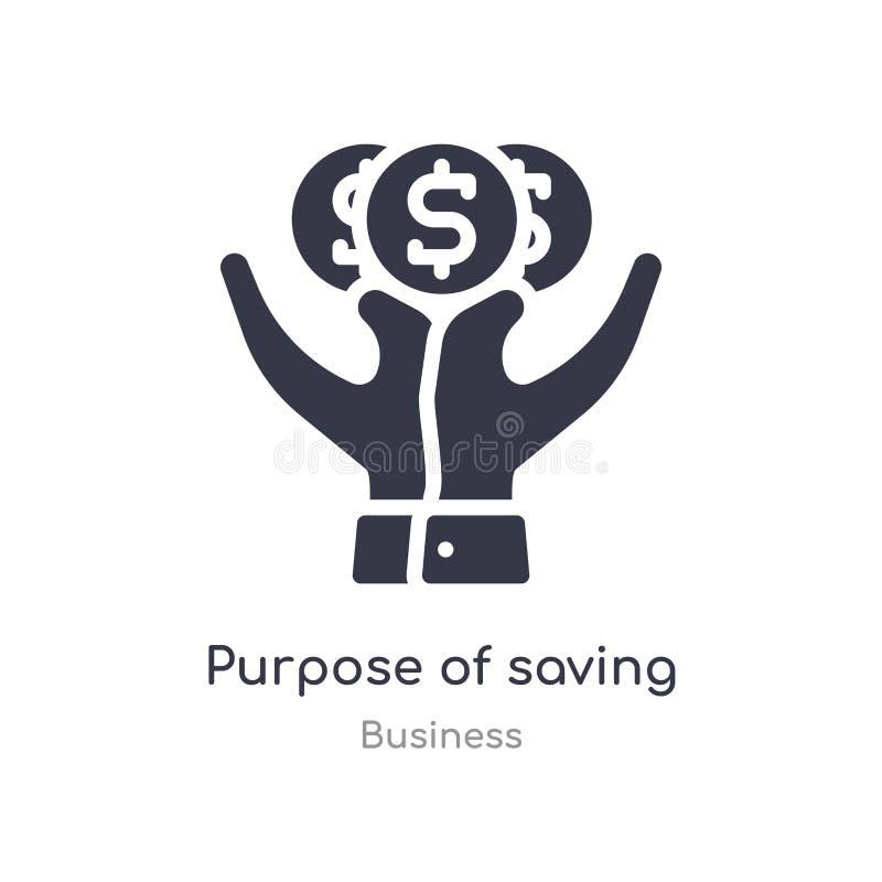 doel om het pictogram van het geldoverzicht te bewaren ge?soleerde lijn vectorillustratie van bedrijfsinzameling editable dun sla royalty-vrije illustratie