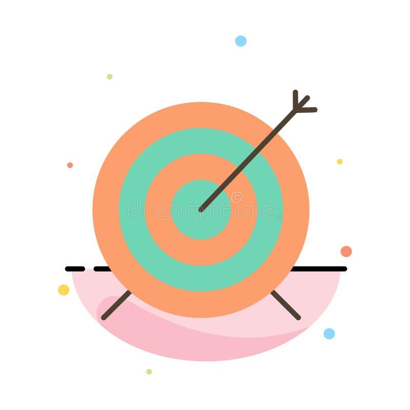 Doel, Pijltje, Doel, het Pictogrammalplaatje van de Nadruk Abstract Vlak Kleur vector illustratie