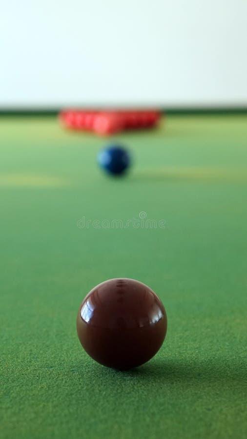 Doel van het de strategieëndoel van snookerballen het abstracte in bedrijfsidee royalty-vrije stock foto's
