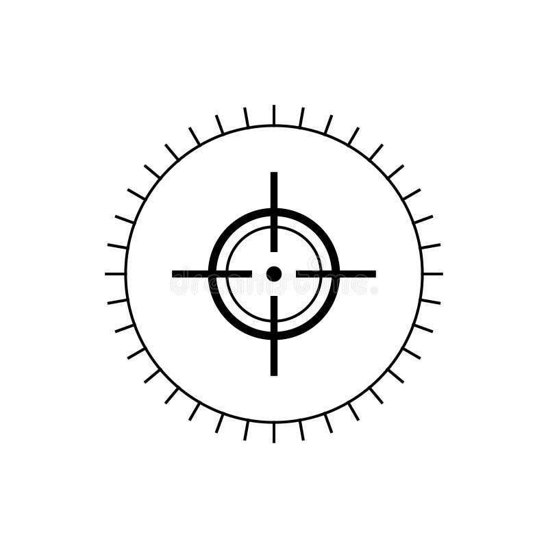 Doelpictogram, de vector van het doelpictogram stock foto