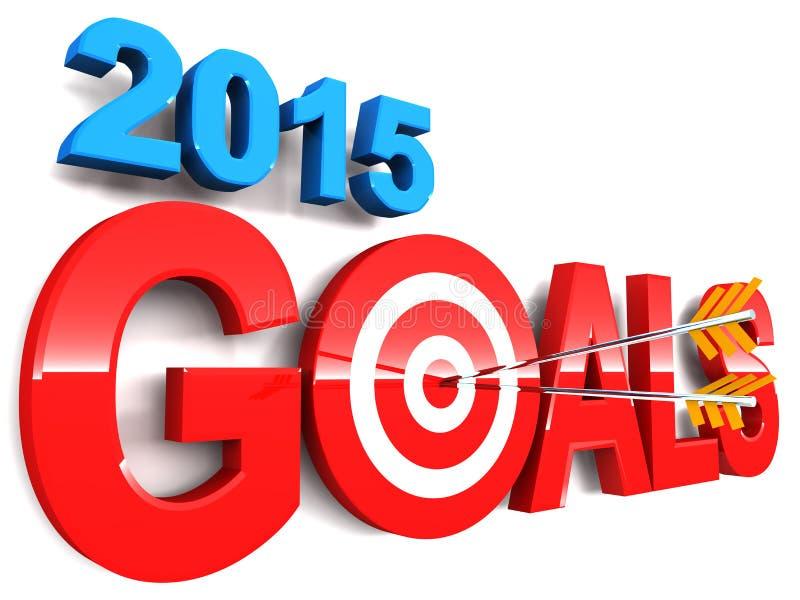 2015 doelstellingen vector illustratie