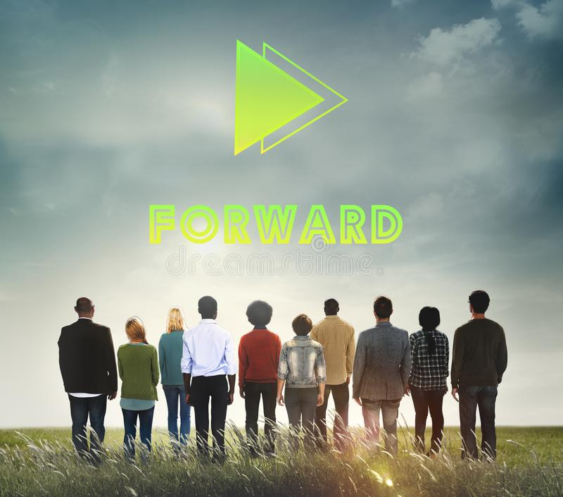 Doelstellingen Concept van de het Succesopdracht van de Doel het Voorwaartse Positiviteit stock fotografie