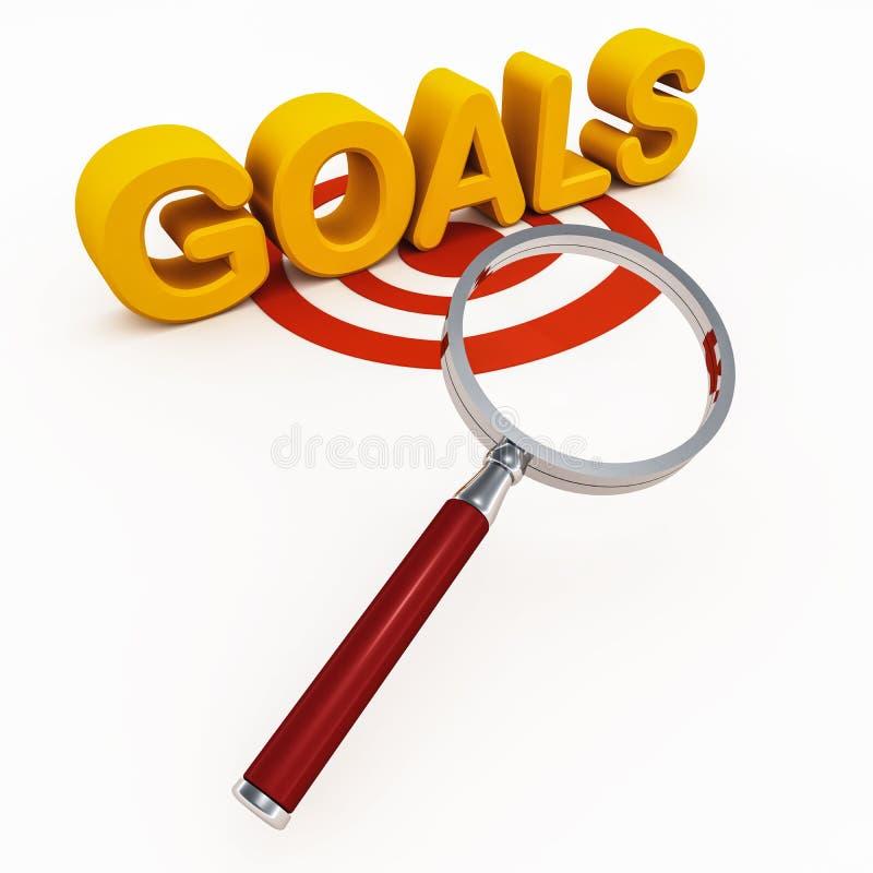 Doelstellingen of doelstellingen stock illustratie