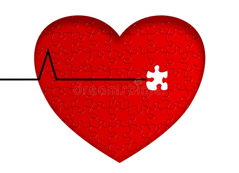 Doença cardíaca ilustração stock