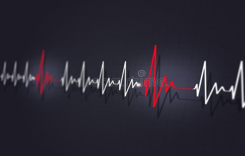 Doença cardíaca Arrythmia ilustração stock