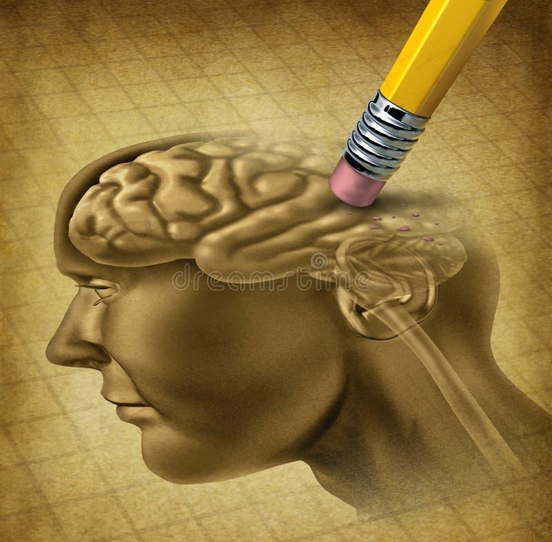 Doença da demência ilustração stock