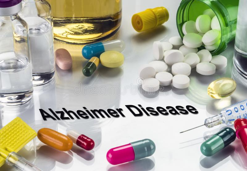 Doença de alzheimer do diagnóstico médico, imagem conceptual fotografia de stock royalty free