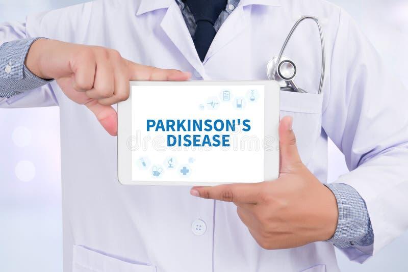 A doença de Parkinson fotografia de stock