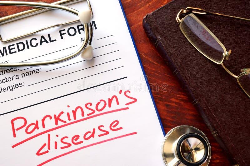 Doença de Parkinson foto de stock