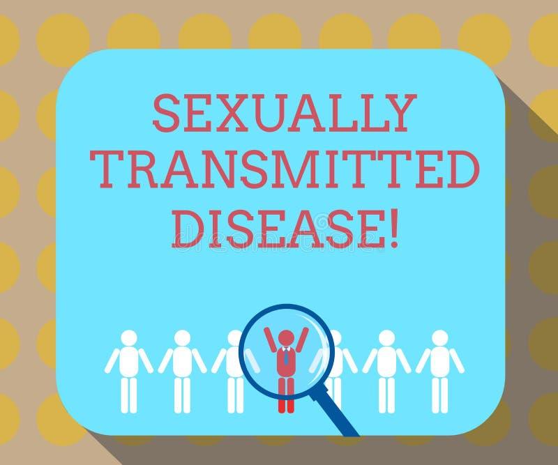 Doença de transmissão sexual do texto da escrita da palavra Conceito do negócio para as doenças espalhadas pela ampliação das rel ilustração do vetor