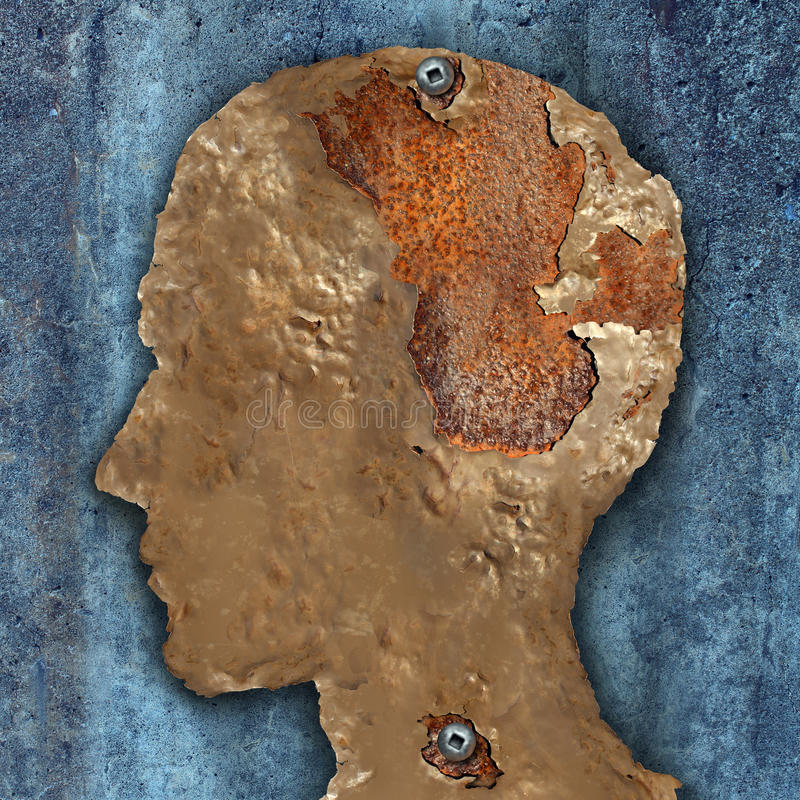 Doença e demência de cérebro ilustração do vetor
