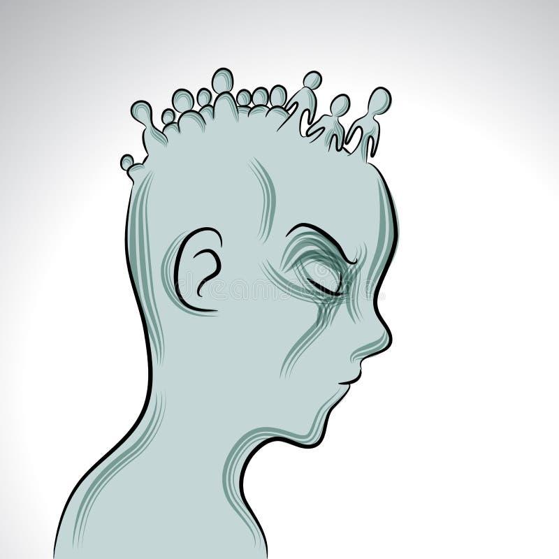Doença mental ilustração do vetor