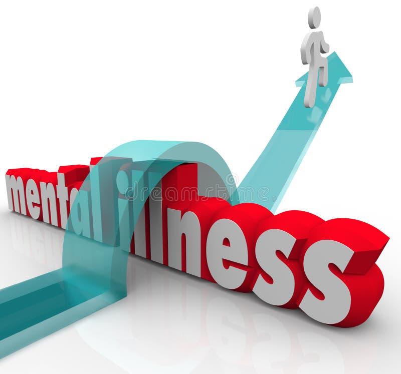 Doença mental uma Person Overcoming Disease Disorder ilustração royalty free
