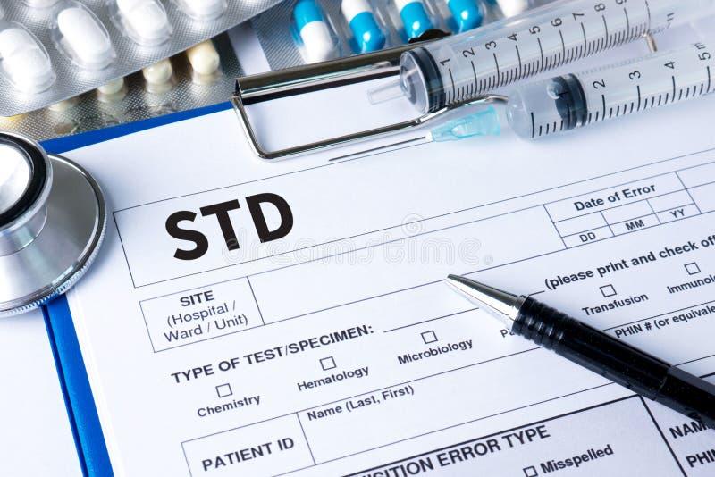 Doenças de transmissão sexual VIH, HBV, HCV, sífilis STD, ST fotos de stock