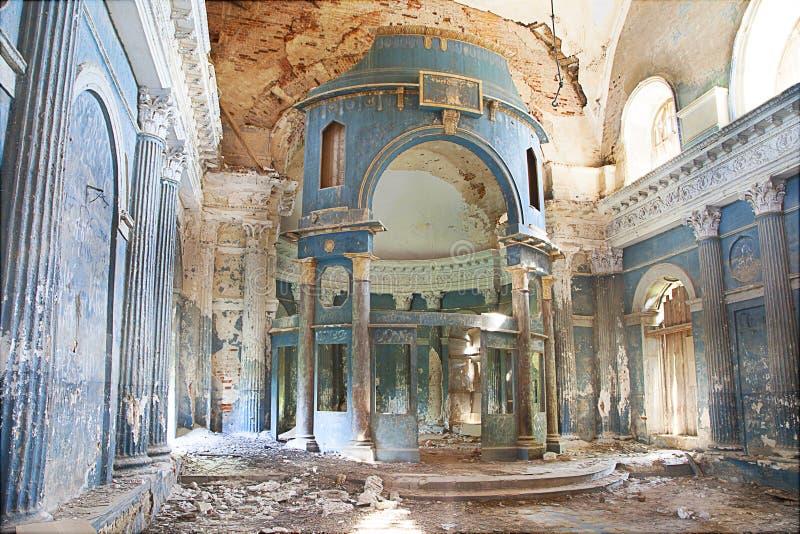 Doen ineenstorten kerk royalty-vrije stock foto's