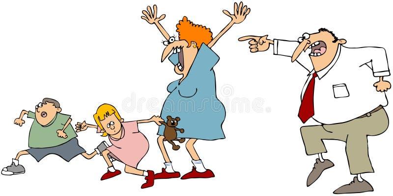 Doen schrikken Familie vector illustratie
