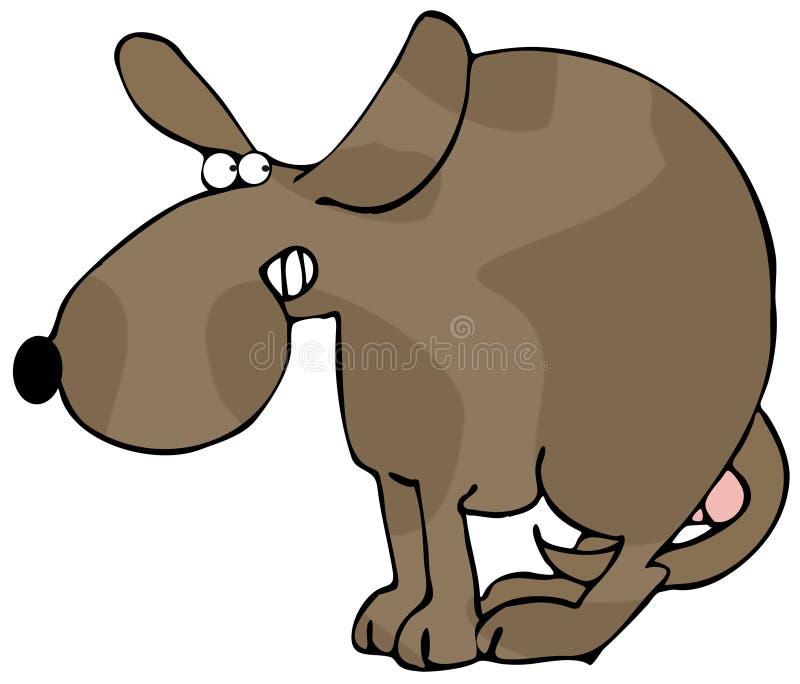 Doen schrikken Hond vector illustratie