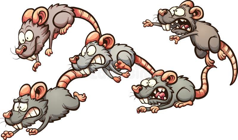 Doen schrikken ratten stock illustratie