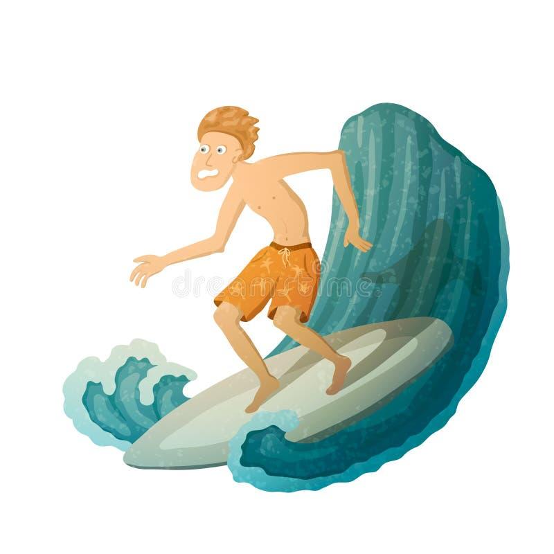 Doen schrikken Surfer royalty-vrije illustratie
