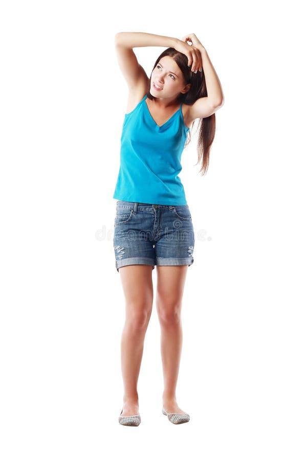 Doen schrikken Vrouw stock fotografie