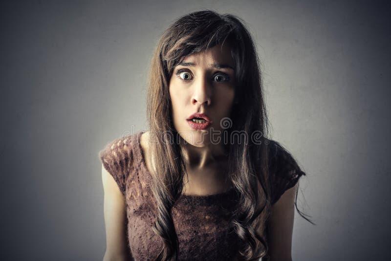 Doen schrikken Vrouw royalty-vrije stock foto