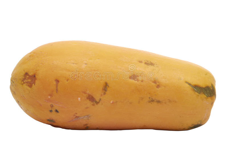 dof新鲜的番木瓜浅黄色 库存照片