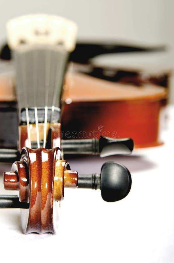 dof浅发光的小提琴 库存照片