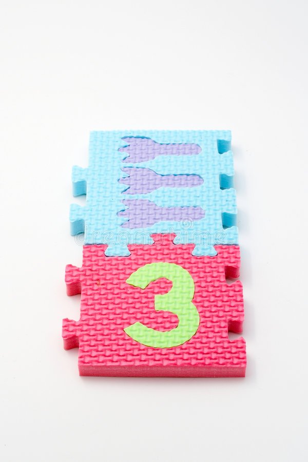dof front ogniska mat liczby małych puzzle 3 zdjęcie stock