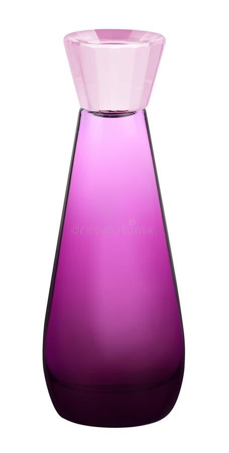 Doft i den härliga flaskan som isoleras på vit arkivfoton