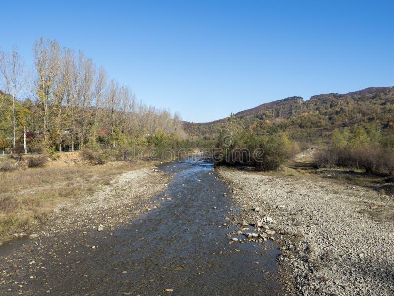 Doftana river, Romania royalty free stock images