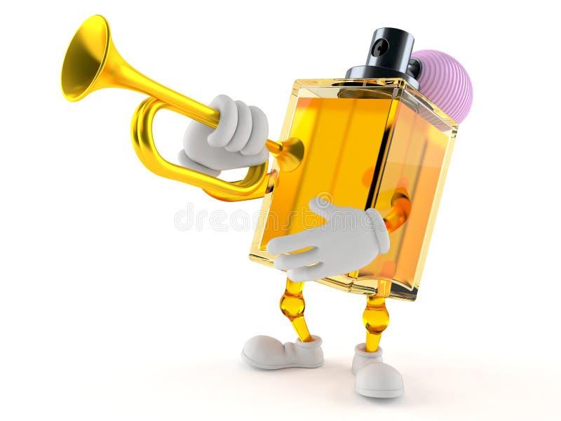 Dofttecken som spelar trumpeten stock illustrationer