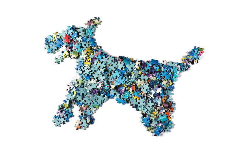 Download Dog stock image. Image of puzzle, pieces, solution, game - 13266711