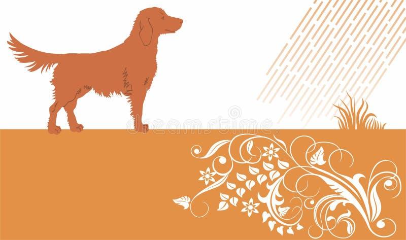 Download Dog stock vector. Image of foliate, back, elegance, canine - 18257485