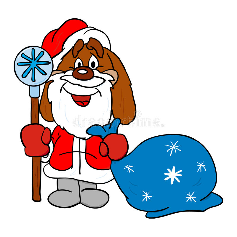 Download Dog stock illustration. Image of cold, flakes, frost, year - 360599