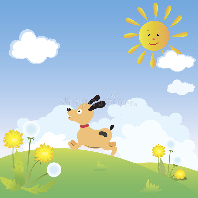 Download Dog stock vector. Image of hill, illustration, happiness - 8170897