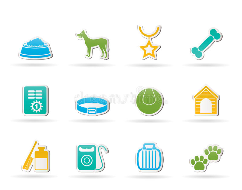 Download Dog Accessory And Symbols Icons Stock Vector - Illustration of sign, kennel: 22774252